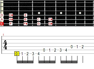 alternate picking con cromatismos