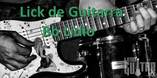 Lick de guitarra en Bb Lidio image