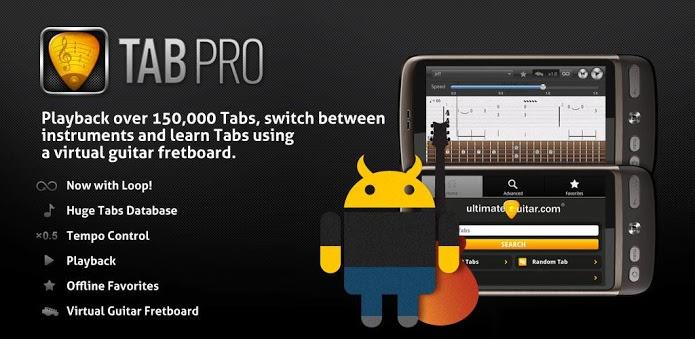 Tabpro 1.2.6 apk Tablaturas en Android