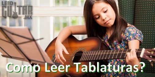 ¿Cómo se leen las Tablaturas para Guitarra? image