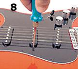 La altura de las pastillas, calibrar guitarra