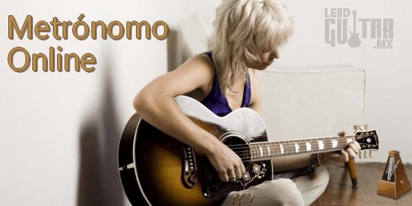 Metrónomo online para guitarra