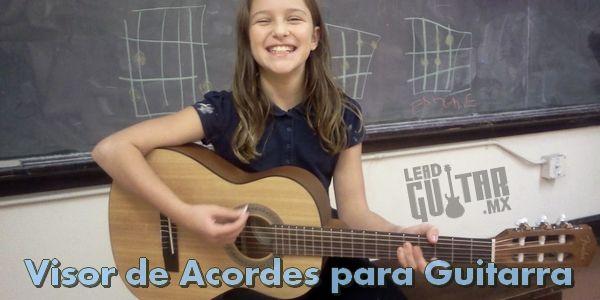 Visor de acordes para guitarra