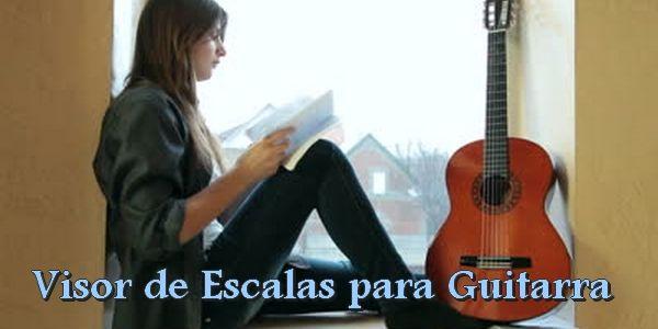 Visor de escalas para guitarra