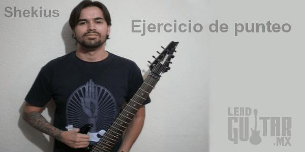 Ejercicio de punteo en la guitarra