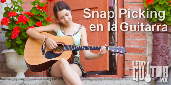 Snap picking en la guitarra image