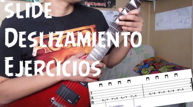 Técnica de deslizamiento en la guitarra – Ejercicios