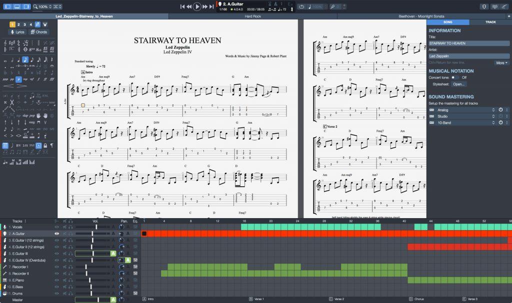 guitar pro 7 sheet music