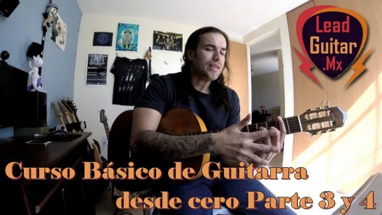 Curso básico de guitarra desde cero, Parte 3 y 4 image